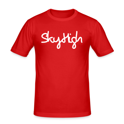 SkyHigh - Snapback - (Printed) White Letters - Men's Slim Fit T-Shirt