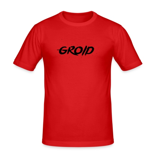 Groid HD Mouse Mat Signature - Men's Slim Fit T-Shirt