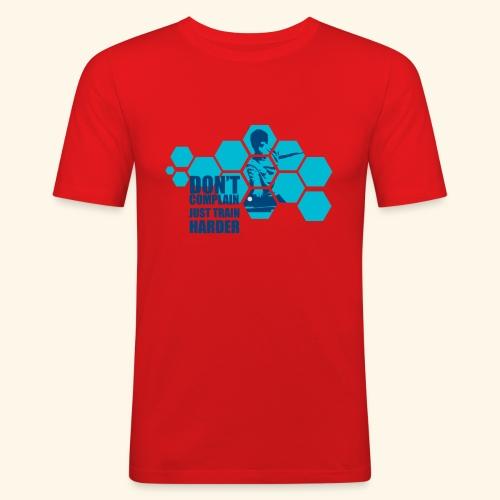 Don't Complain Just train hard Ping pong - Männer Slim Fit T-Shirt