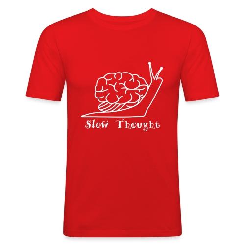 SlowThought (weiß) - Männer Slim Fit T-Shirt