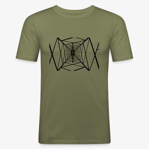 Quermast V2 Schwarz - Männer Slim Fit T-Shirt