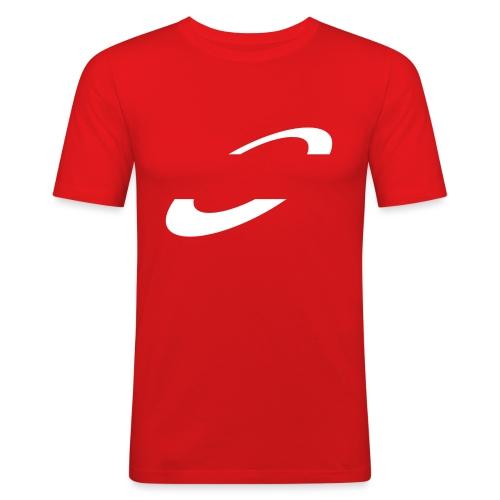 Planet Cycling Icon White - Men's Slim Fit T-Shirt