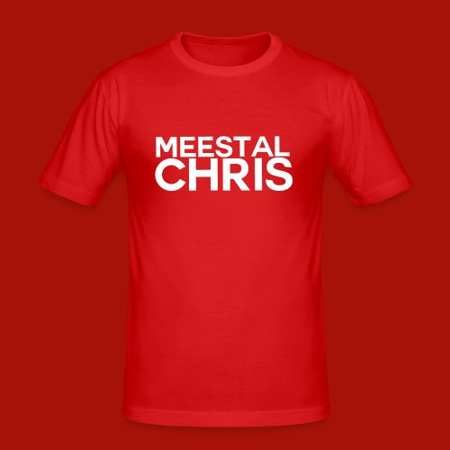 MeestalChris Logo shirt - Mannen slim fit T-shirt