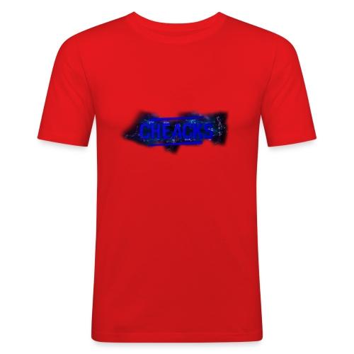 New Cheacks Banner/Logo Men Shirt - Mannen slim fit T-shirt
