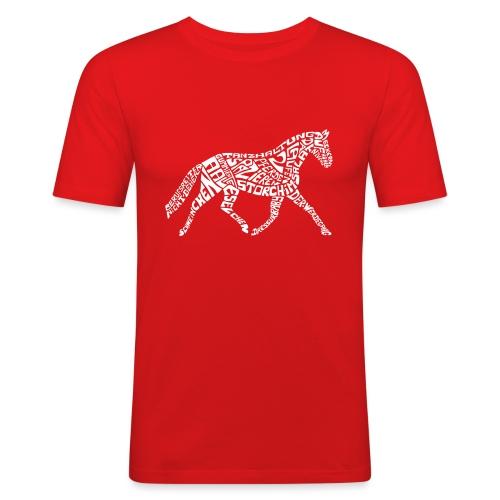Körpertraining Logo weiß - Männer Slim Fit T-Shirt