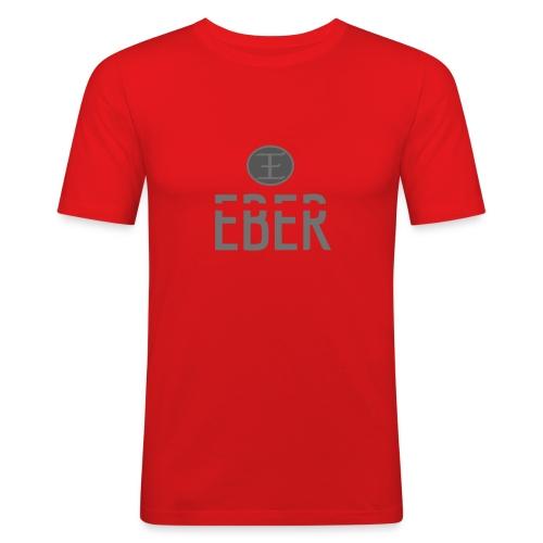 EBER: T-Shirt - White - Slim Fit T-shirt herr