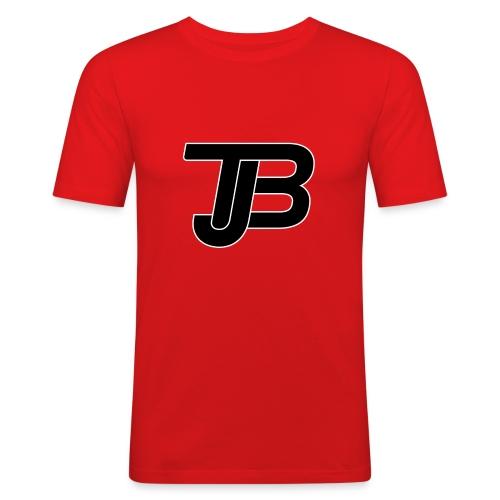 TJB Logo White Black - Männer Slim Fit T-Shirt