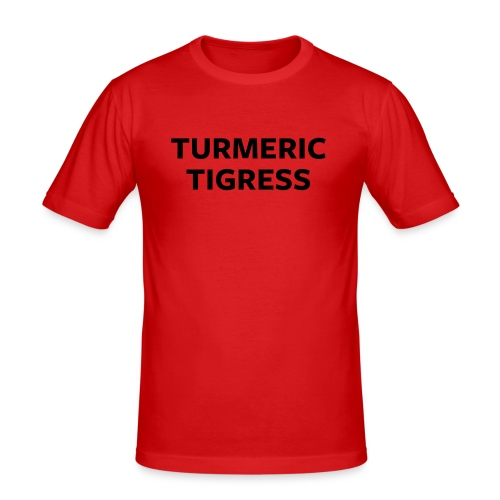 Turmeric Tigress - Men's Slim Fit T-Shirt