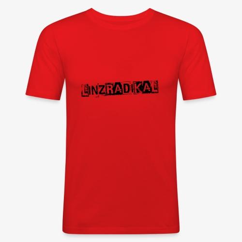 Linzradikal schwarz - Männer Slim Fit T-Shirt