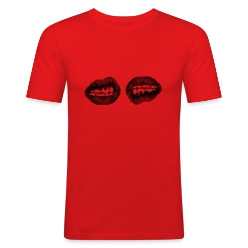 labbra - Maglietta aderente da uomo