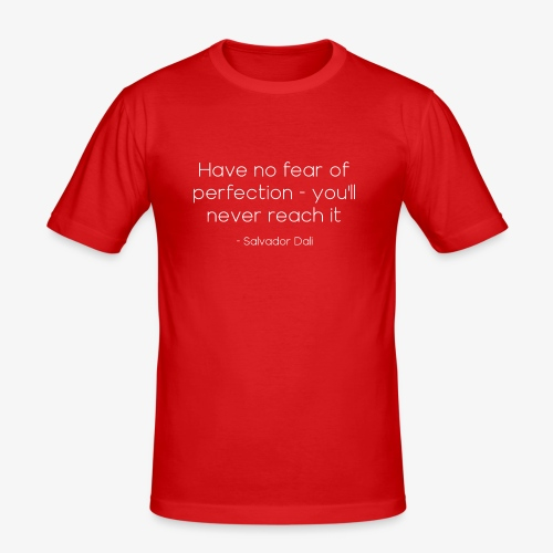 Salvador Dalí Quote - Men's Slim Fit T-Shirt