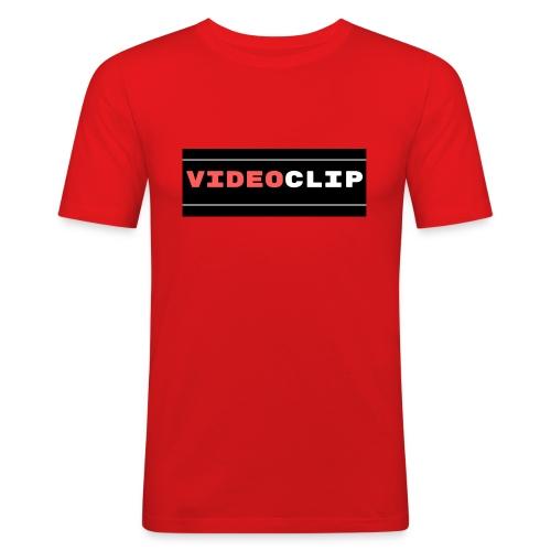 VideoClip-tekst - Mannen slim fit T-shirt