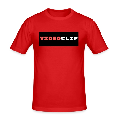 VideoClip-tekst - slim fit T-shirt