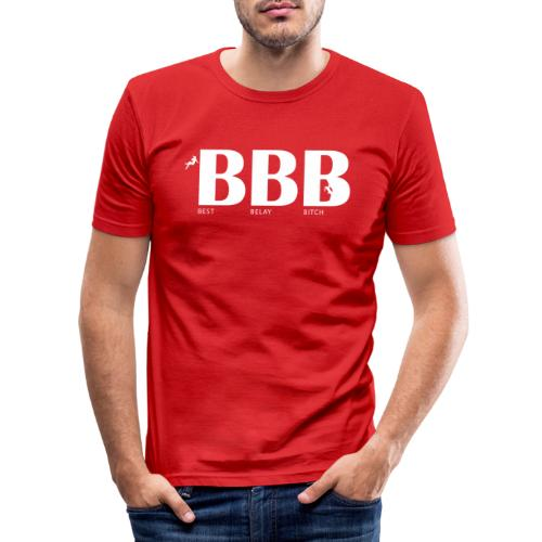 Best Belay Bitch - Männer Slim Fit T-Shirt