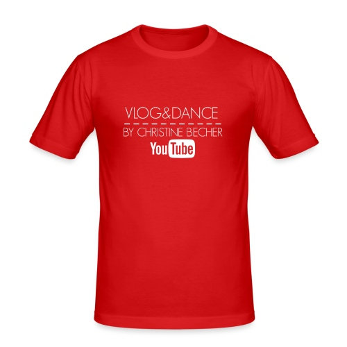 VLOG&DANCE by Christine Becher White - Männer Slim Fit T-Shirt