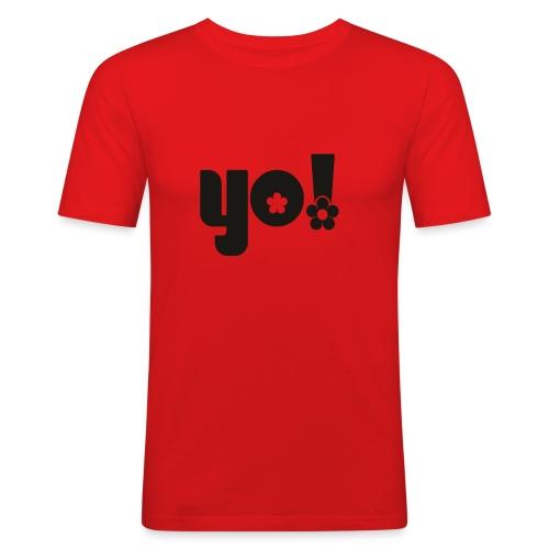 Yo power - Herre Slim Fit T-Shirt