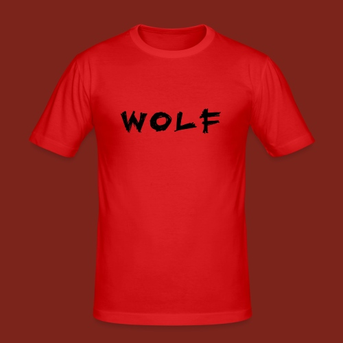Wolf Font png - Mannen slim fit T-shirt