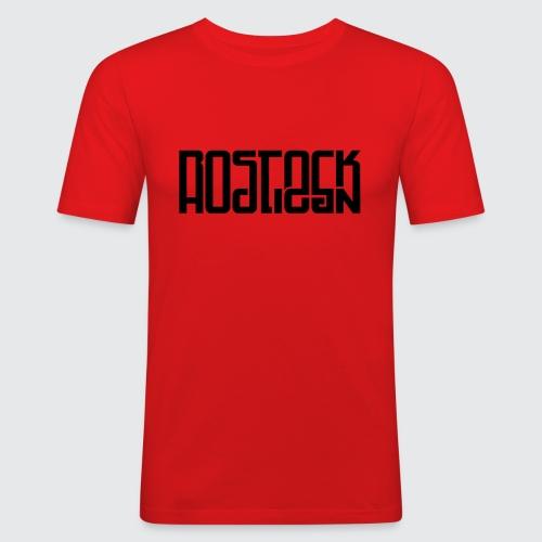 Rostock Hooligan - Männer Slim Fit T-Shirt