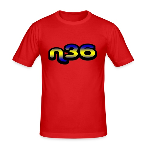 n36_mix - Mannen slim fit T-shirt