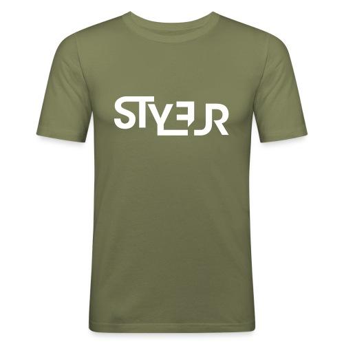 styleur logo spreadhsirt - Männer Slim Fit T-Shirt