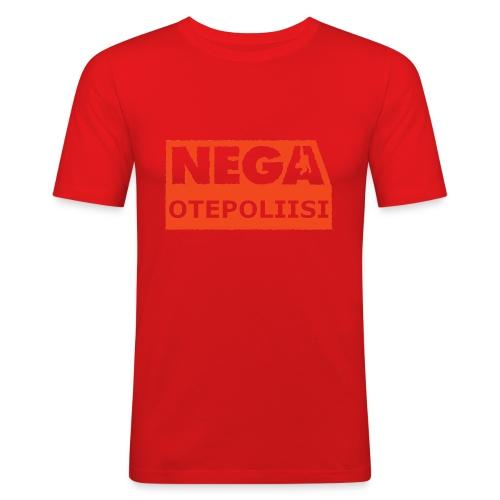 OtePoliisi pinssi iso - Miesten tyköistuva t-paita