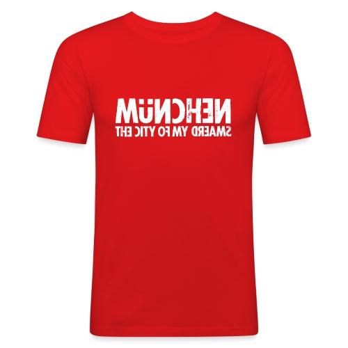 München (white oldstyle) - Männer Slim Fit T-Shirt