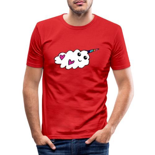 Nuage licorne Kawaii - T-shirt près du corps Homme