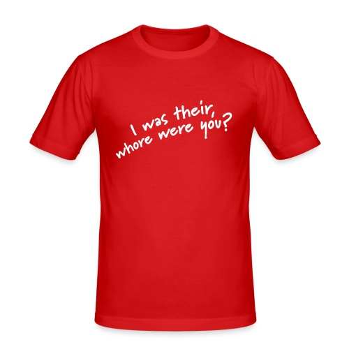 Dyslexic I was there - Mannen slim fit T-shirt