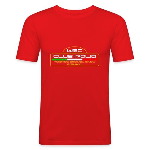 WRC CLUB ITALIA LOGO POSTERIORE - Maglietta aderente da uomo