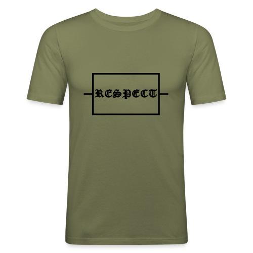 Widerstand für RESPECT - Männer Slim Fit T-Shirt