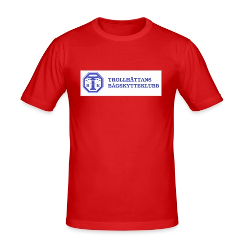 Piké Herr Slim - Tävlingströja med ryggtryck - Slim Fit T-shirt herr