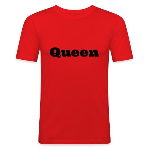 Snapback queen rood/zwart - Mannen slim fit T-shirt