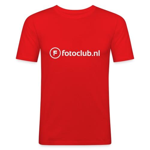 Logo Wit Fotoclublnl - Mannen slim fit T-shirt