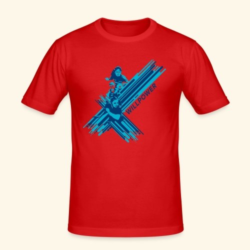 Will Power to win table Tennis Championship - Männer Slim Fit T-Shirt