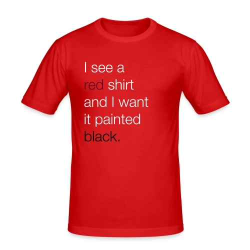 I see a red shirt and I want it painted black - slim fit T-shirt