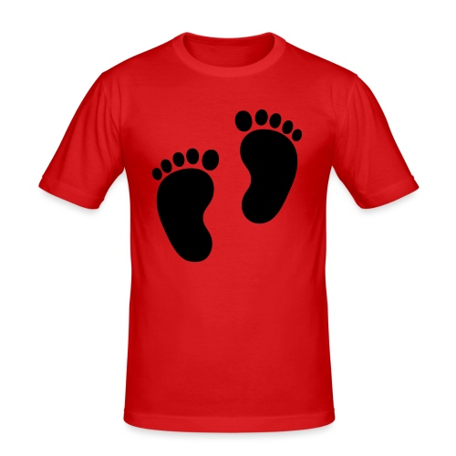 Baby voetjes - slim fit T-shirt