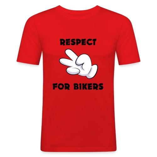Respect for Bikers - Maglietta aderente da uomo