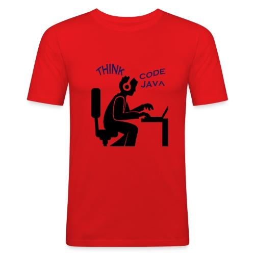Think Code Java - Slim Fit T-shirt herr