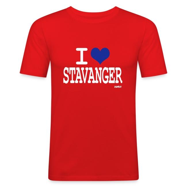 i love stavanger by wam Slim Fit T skjorte for menn   t