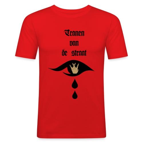 Tranen van de straat - Mannen slim fit T-shirt