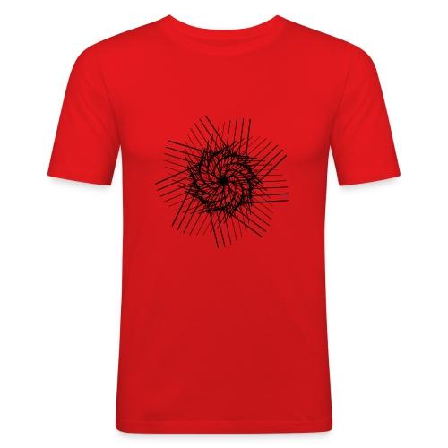 striped spiral - T-shirt près du corps Homme
