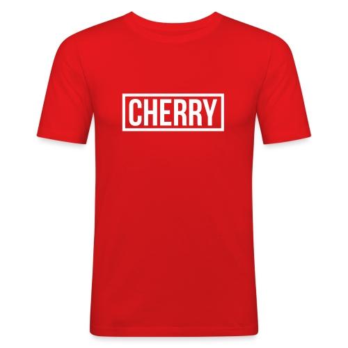 Cherry White - Mannen slim fit T-shirt