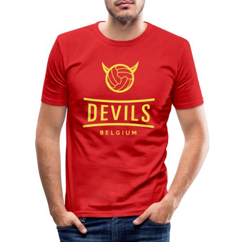 Belgique diables Diables football - T-shirt près du corps Homme