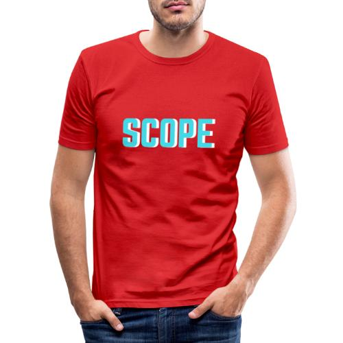 SCOPE BLUE - Mannen slim fit T-shirt