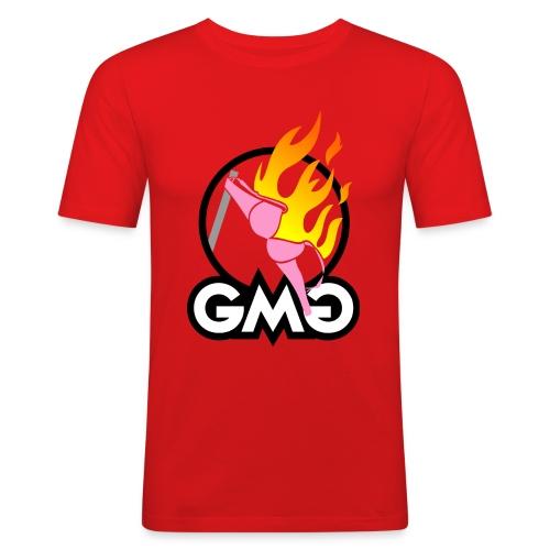 geheime maennergruppe auf hell - Männer Slim Fit T-Shirt