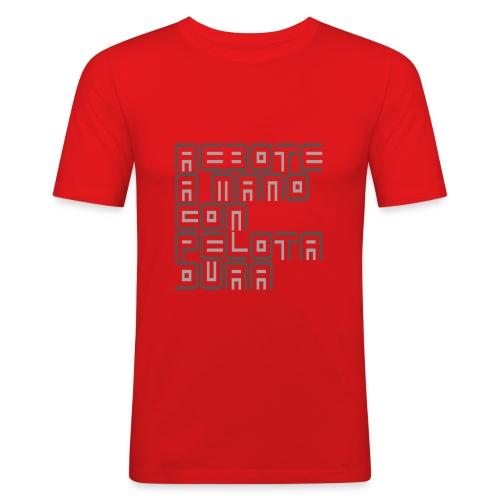 reboteamanogrey1 png - Mannen slim fit T-shirt