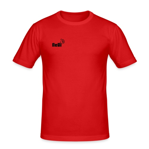 NeBiLOGO - Miesten tyköistuva t-paita