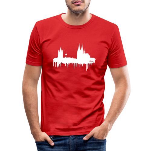 Skyline Köln - Weiß - Männer Slim Fit T-Shirt