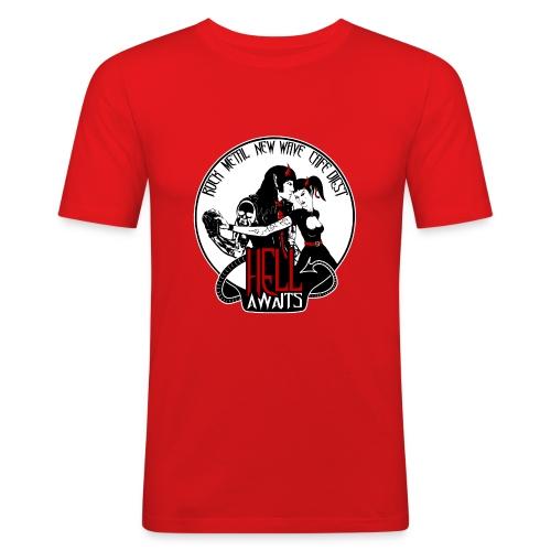 Hell Awaits - demonic couple - Mannen slim fit T-shirt