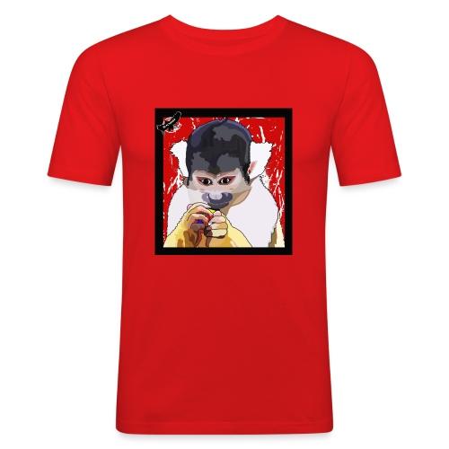 'Clever Monkey 2' by BlackenedMoonArts, w. logo - Herre Slim Fit T-Shirt
